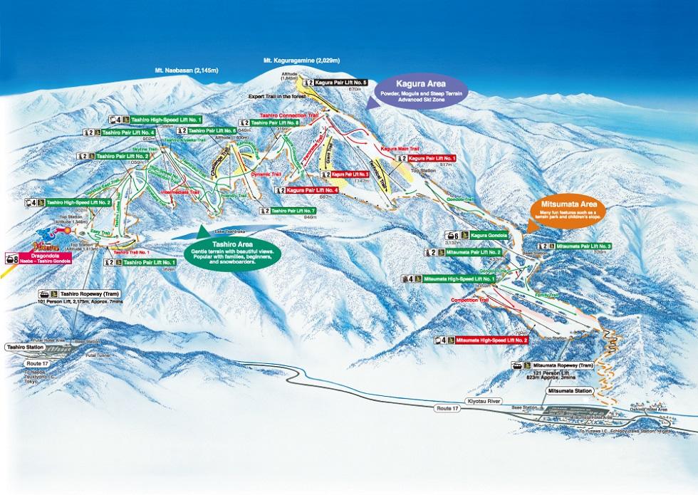 MtNaeba Kagura Ski Resort Japan Ski Guide powered by SURFSNOW